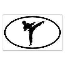 Martial Arts Kick Oval Decal