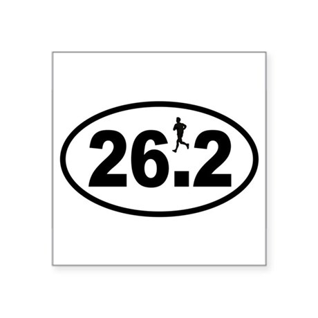 Marathon Runner Oval Sticker