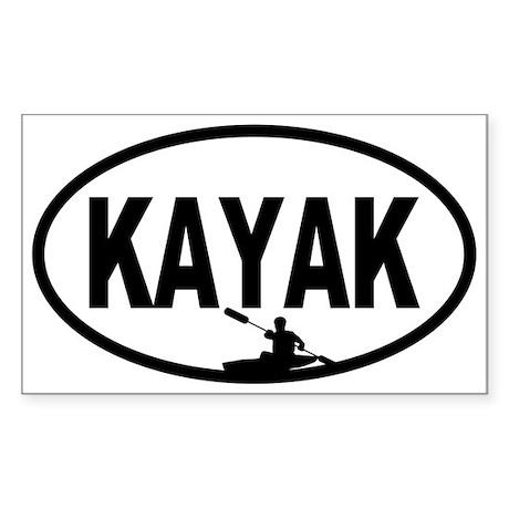 Kayaker Oval Sticker