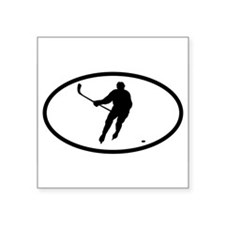 Hockey Player Oval Sticker