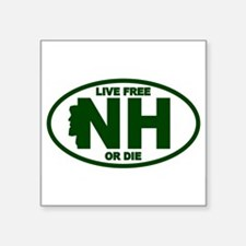 Green New Hampshire Live Free Or Die Sticker