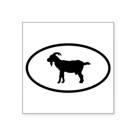 Goat Oval Sticker