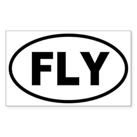 Basic Flying Oval Sticker