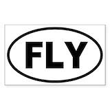 Airplane sticker Single