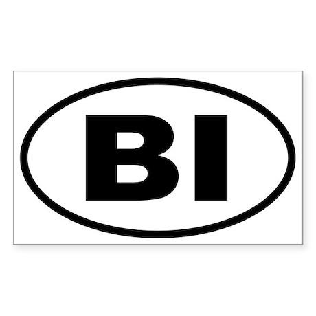 Basic Block Island Oval Sticker