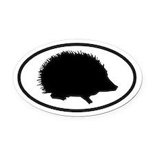 Hedgehog Oval Car Magnet
