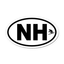 Ski New Hampshire Oval Car Magnet