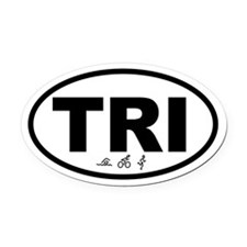 Triathlete Oval Car Magnet