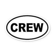 Basic Crew Oval Car Magnet
