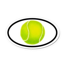 Tennis Ball Oval Car Magnet