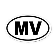 Martha's Vineyard MV Oval Car Magnet