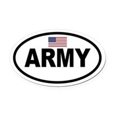 ARMY Flag Oval Car Magnet