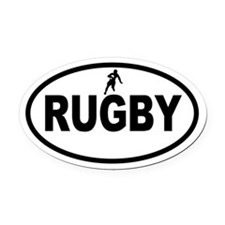 Rugby Oval Car Magnet