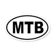 Basic Mountain Biking Oval Car Magnet