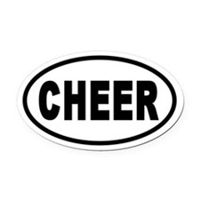 Basic Cheerleading CHEER Oval Car Magnet