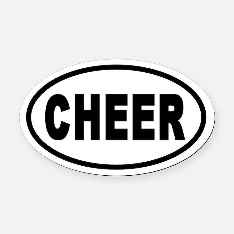 Basic Cheerleading CHEER Oval Car Magnet