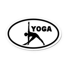 Yoga Pose Oval Car Magnet