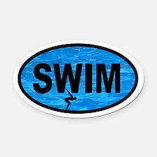SWIM Pool Racer Oval Car Magnet