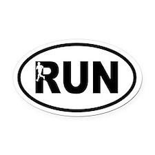 Running Inset Runner Oval Car Magnet