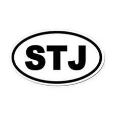 Basic St. John's STJ Oval Car Magnet