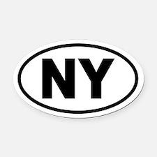 Basic New York Oval Car Magnet
