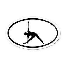 Yoga Half-Moon Oval Car Magnet