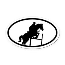 Equestrian Show Jump Oval Car Magnet
