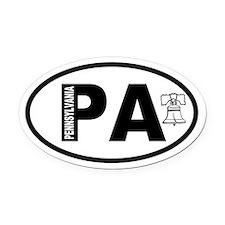 Pennsylvania Liberty Bell Oval Car Magnet