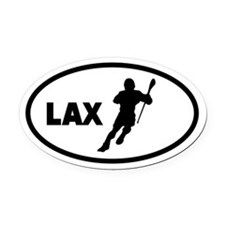 LAX Player Oval Car Magnet