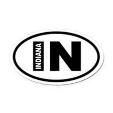 Indiana Oval Car Magnet