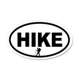 Hiking Oval Car Magnets