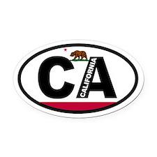 California Flag Oval Car Magnet