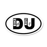 Duathlon Oval Car Magnets