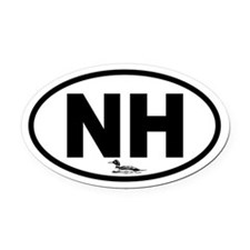 New Hampshire Loon Oval Car Magnet
