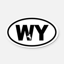 Cool Wyoming Oval Car Magnet