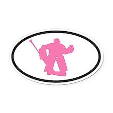 WOMEN'S HOCKEY Goalie Oval Car Magnet