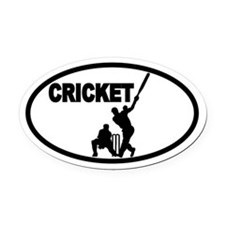 Cricket Batsman Oval Car Magnet