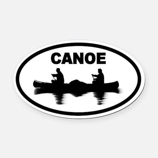 Canoe Oval Car Magnet