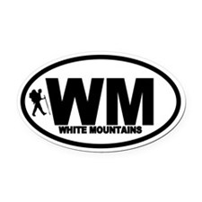 White Mountains WM Hiker Oval Car Magnet