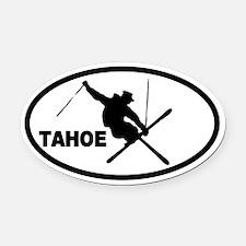 Tahoe Skier Oval Car Magnet