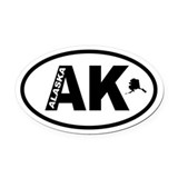 Alaska Oval Car Magnets