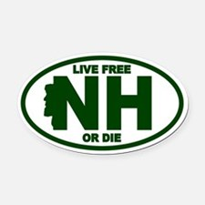 Funny New Oval Car Magnet
