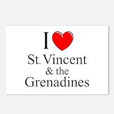 """""""I Love St. Vincent & The Grenadines"""" Postcards (P"""