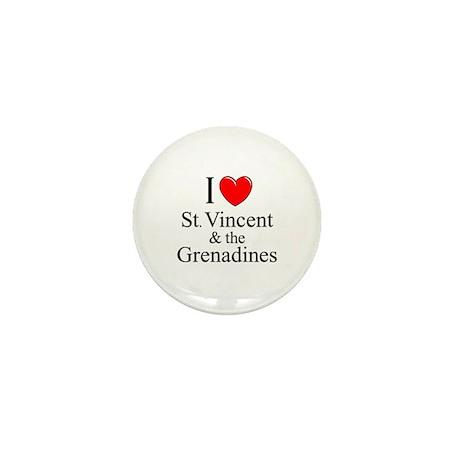 """""""I Love St. Vincent & The Grenadines"""" Mini Button"""