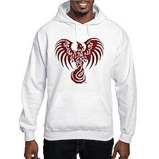 Large Red Phoenix Logo Hoodie