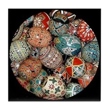 Pysanky Group 1 Tile Coaster