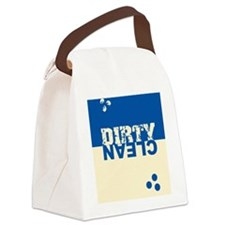 dirtycleansq_bl_cream Canvas Lunch Bag
