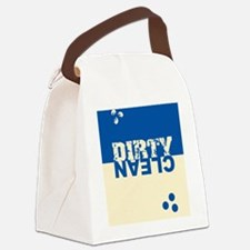 dirtycleansq_bl_cream Canvas Lunch Bag