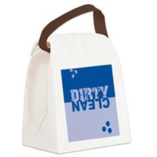 dirtycleansq_blues Canvas Lunch Bag
