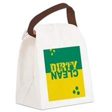 dirtycleansq_gr_yel Canvas Lunch Bag
